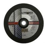 Abrasive depressed centre metal cutting disc