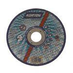 Abrasive flat metal cutting disc