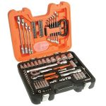 "BH00/040687 Bahco 92 piece combined metric socket (1/4"" and 1/2"" square drive), hexagon key, bit and spanner set"