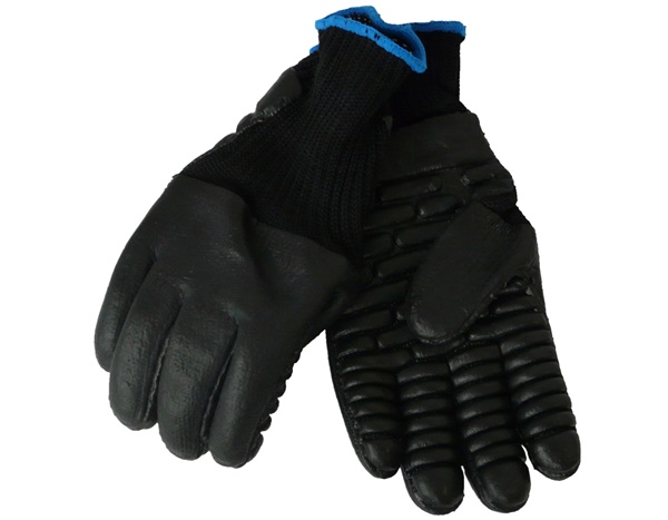 Anti-vibration gloves available in three sizes 8 (medium), 9, (large) and 10 (extra large)