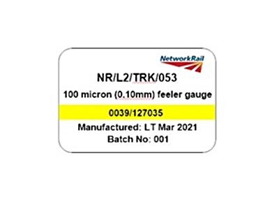 Feeler gauge for SO53 inspection 100 microns (0.1mm)